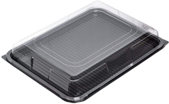 Plastic Platter Medium Rect. Clear Domed Lid (a pack of 50)