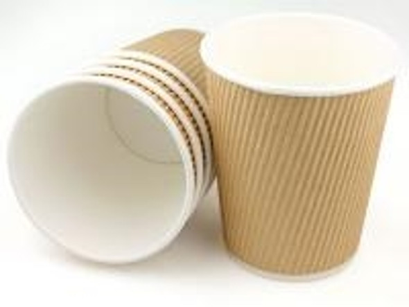 Ripple Kraft Paper Cup Hot [8oz] (a pack of 500)