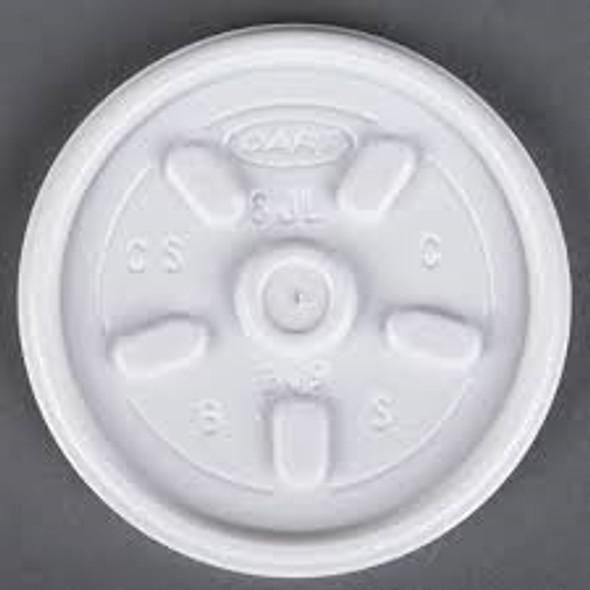Dart [10JLPF] Plastic Lid Vented White [10oz] (a pack of 1000)