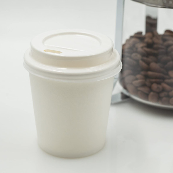 Lid for Ripple Kraft Paper Cup Hot and Andi Liu [4oz] (a pack of 1000)