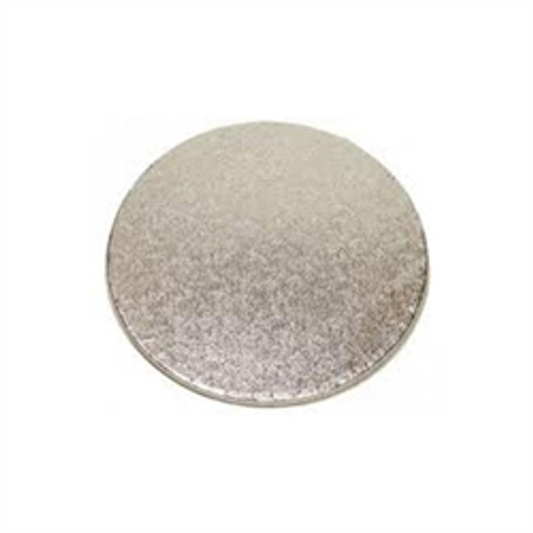 Cake Card Silver Round [8inch] Extra Thick (a pack of 25)
