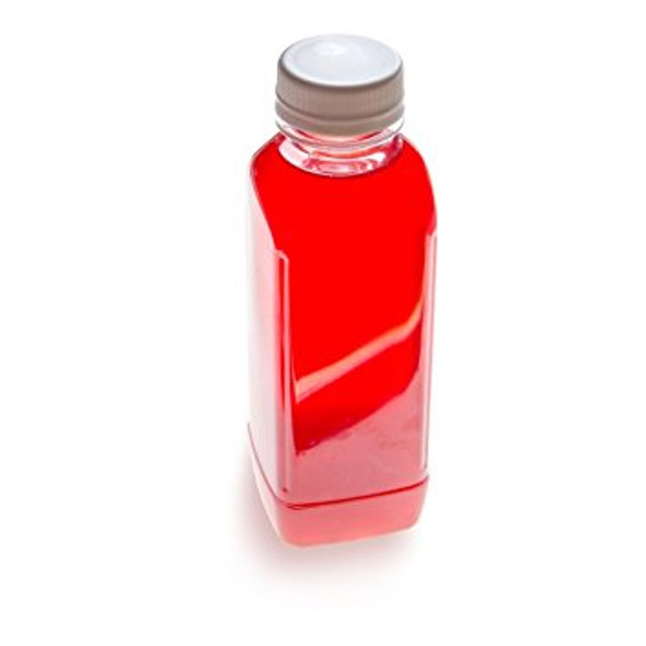 Clear Juice Bottle Square and White caps [500ml] (a Pack of 80 set)