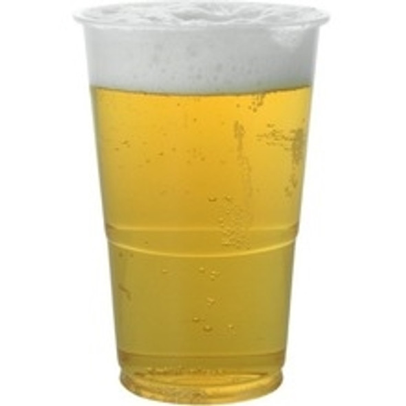 Half Pint Clear Plastic Disposable Party Beer Glasses Cups(a pack of 1250)