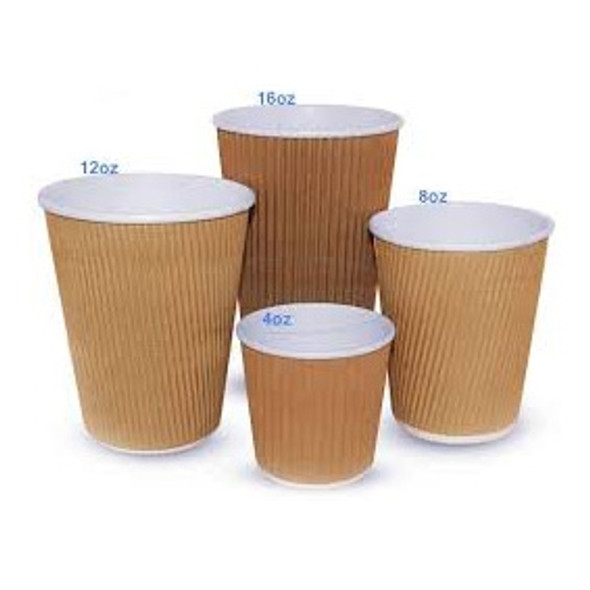 Ripple Kraft Paper Cup Hot [4oz] (a pack of 1000)