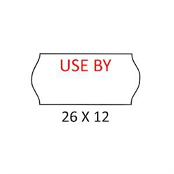 Label [CT4] USE BY White (a pack of 45000)