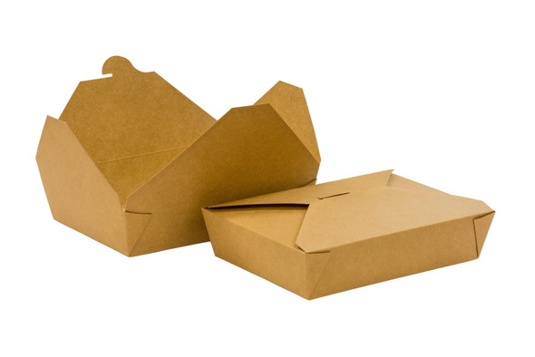 Natural Brown Kraft  Leakproof Paper Meal Box No.2 [215x155x48mm] (a pack of 280)