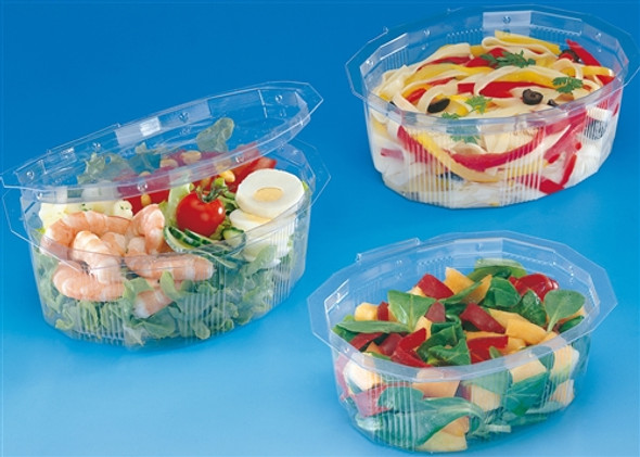 GPI Multipack M370 Clear Hinged Container [370cc] (a pack of 420)