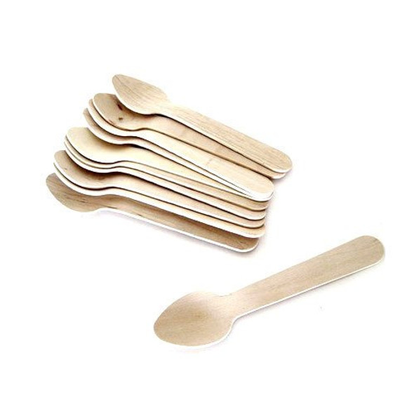 Wooden Dessert Spoons (a pack of 1000)