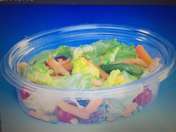 GPI Elipack [E750] Oval Hinged Salad Container [750cc] (a pack of 300)