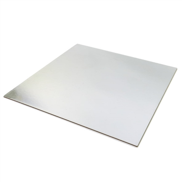 Cake Card Silver Square [10inch] Extra Thick (a pack of 25)
