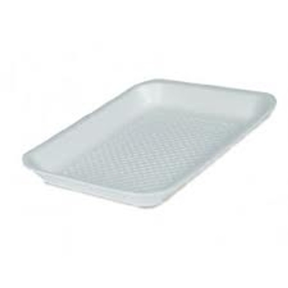Linpac [13M] Polystyrene White Tray [216x152x16mm] a packs of 500
