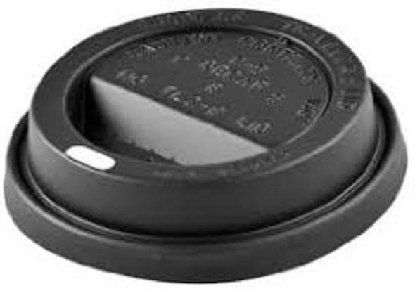 Somolast Hot Plastic Lid [12oz & 16oz] Black Domed (a pack of 1000)