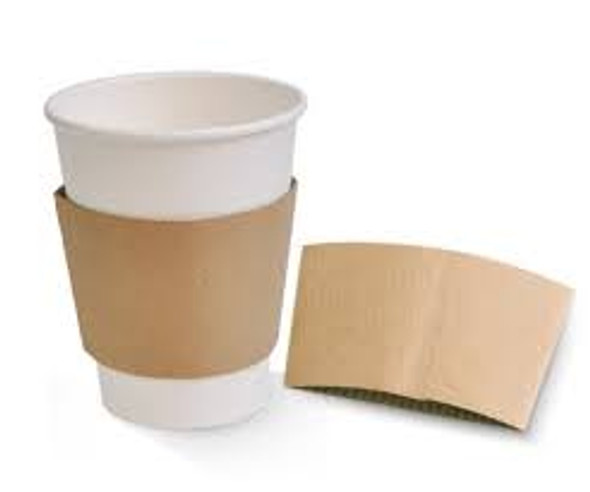 Sleeve Cup, Coffee Clutch Brown [8oz - 10oz] Plain (a pack of 1000)