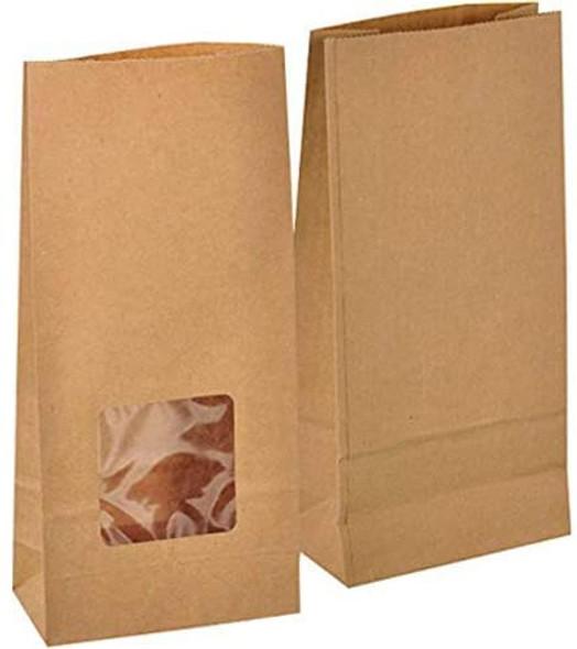 Brown Kraft Window Bag (a pack of 250)