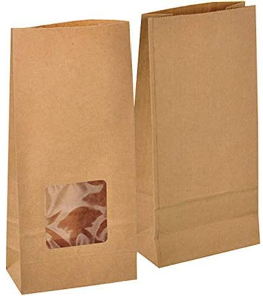 250 x Brown Kraft Window Bag