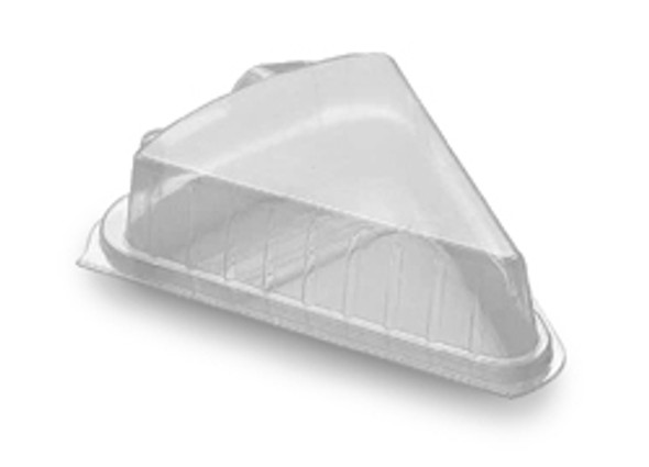 Plastic Cake Slice Clear Hinged [BF0020] (a pack of 600)