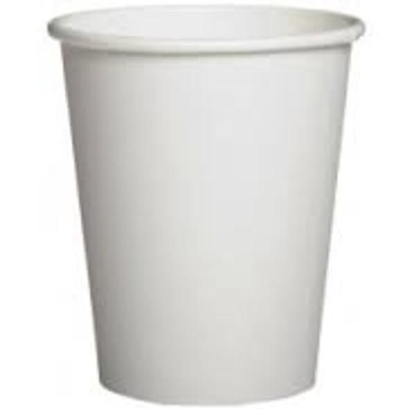 Go Pack White Paper Cup Hot 12oz Single Wall (340ml) (a pack of 1000)
