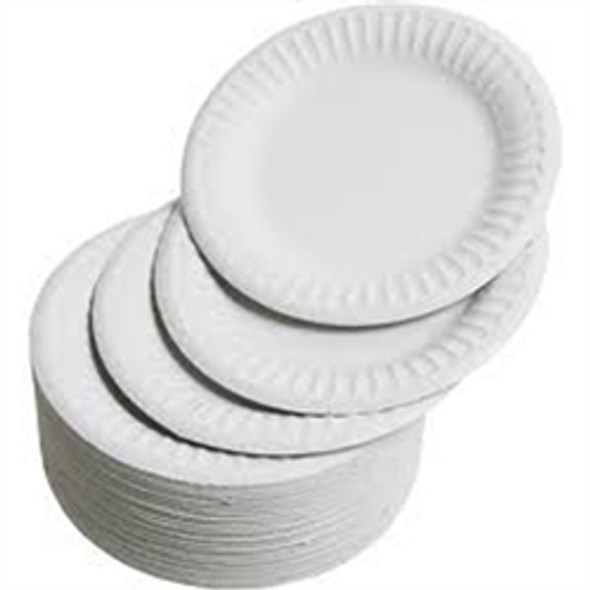 Paper Plate White [6inch] (15cm) (a pack of 1000)