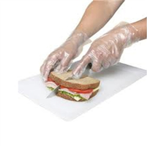 Polythene Gloves [Medium] Clear Packed (a pack of 100)