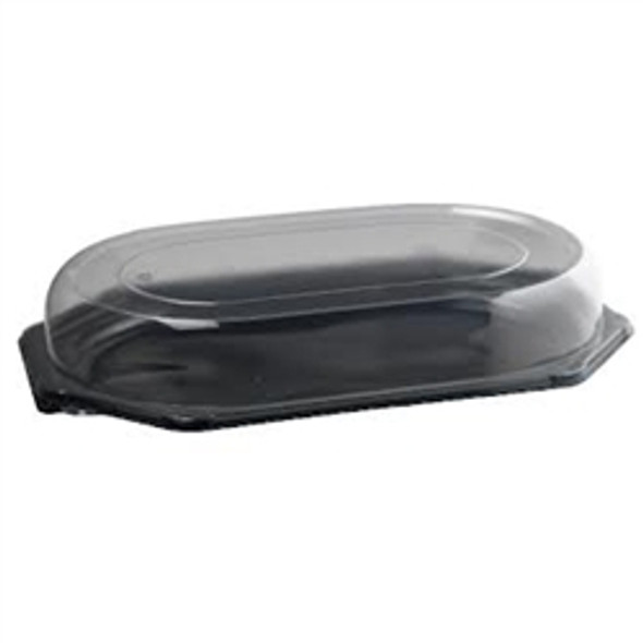 Plastic Platter Small Black Oct Base 360mm x 240 mm (a pack of 100)