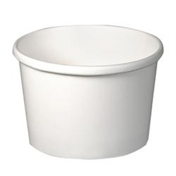 Solo White [H4085] Paper Soup Container [8oz] (237ml) (a pack of 500)