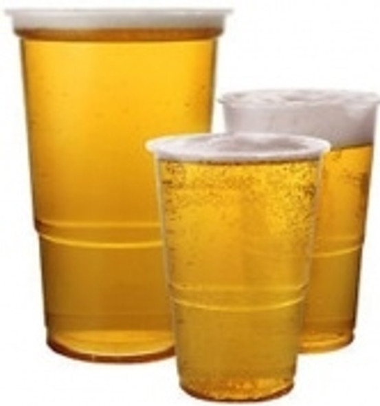 One Pint Clear Plastic Disposable Party Beer Glasses Cups (a pack of 800)