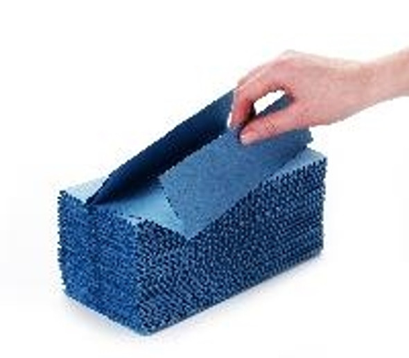 Blue C-fold Hand Towel 1ply [31x23cm] (a pack of 2880 sheet)