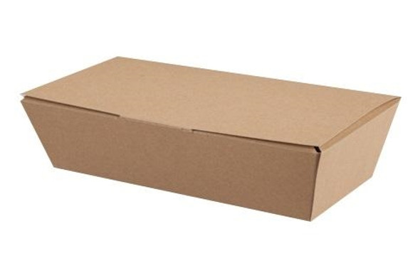 Simply Kraft Standard Multi-food Box (Burger , Fish and chips ...) leakproof (W) 95/125 x (H) 62mm (a Pack of 150)