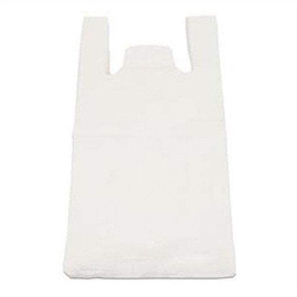 White Plastic Carrier Bag Bottle (19x32x44cm) 18mu (a pack of 2000)