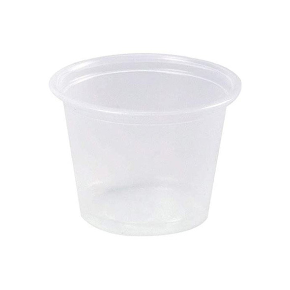 Dart [100PC] Plastic Container Round [1oz] (30ml) just base ( a pack of 2500)