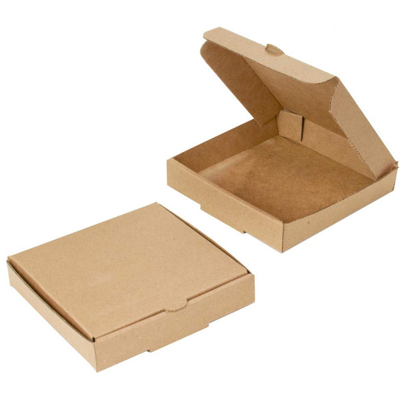 Pizza Box Brown Plain [13inch] (a pack of 100)