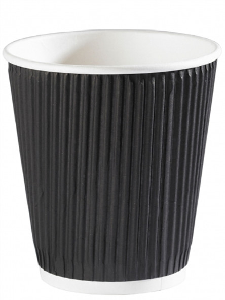 Squat Ripple Cup (black) 12 oz (a pack of 500)