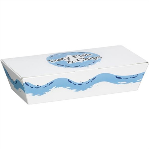 Extra large Tasty Fish & Chips Box (a Pack of 250)