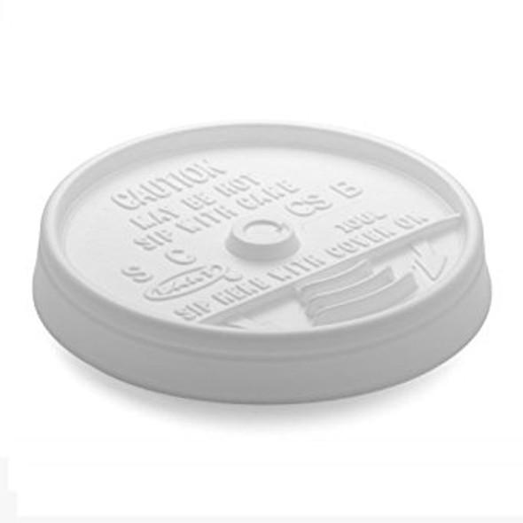 Dart [10UL] Plastic Lid Sip Thru White [10oz] (a pack of 1000)