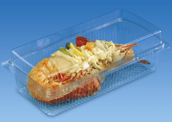 GPI Traitipack [X105H80] Clear Hinged Container (a pack of 200)
