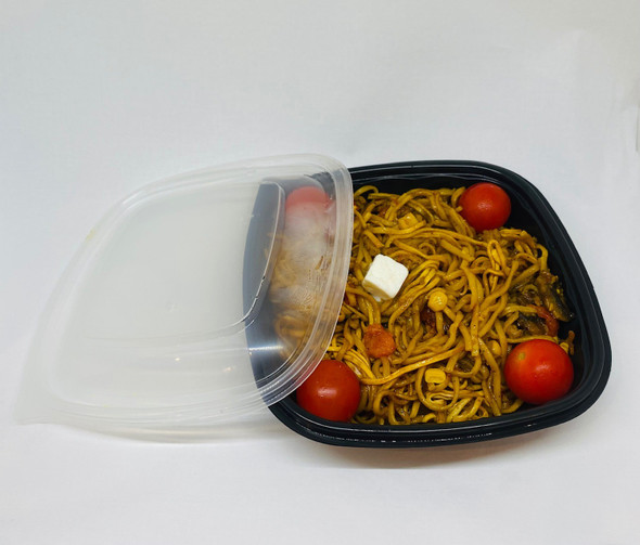 Lids for Somoplast 780 Square Black Microwavable Container (a pack of 270)