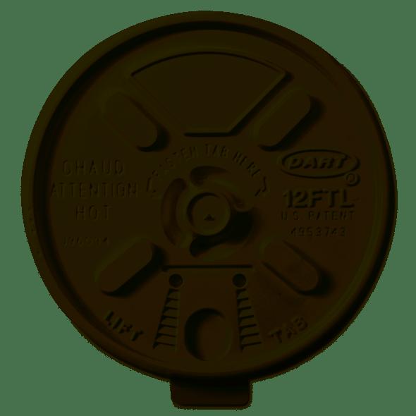 Dart [12FTL] Plastic Lid Lift n' Lock White [12oz] (a pack of 1000)
