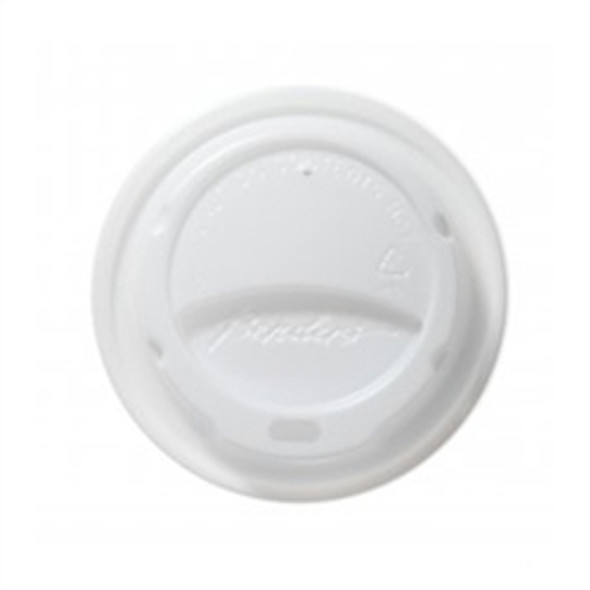 Bender Hot Plastic Lid [16oz Milano] White Domed (a pack of 1000)