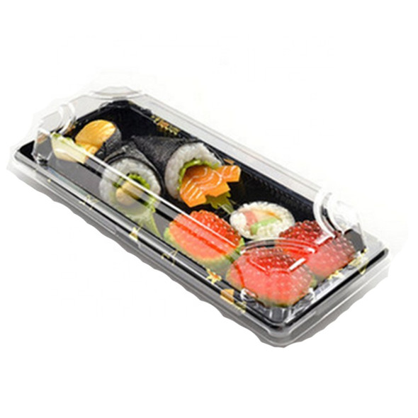 Black Sushi Container Base & Lid [QA-06] 217x90mm (a pack of 500)