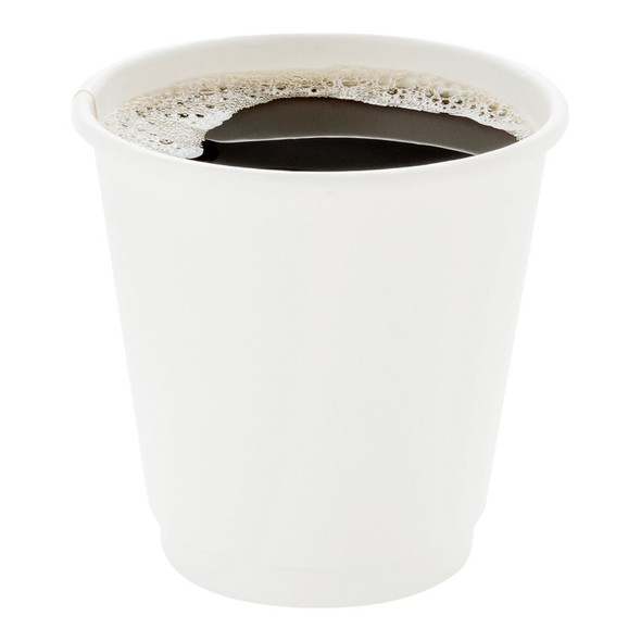 Go Pack Double Wall White Paper Cup Hot 8oz (227ml) (a pack of 500)