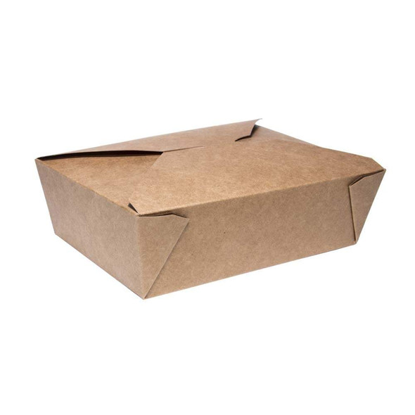 Biodegradable Brown Kraft Leakproof Food Container - No.3 (a pack of 180)