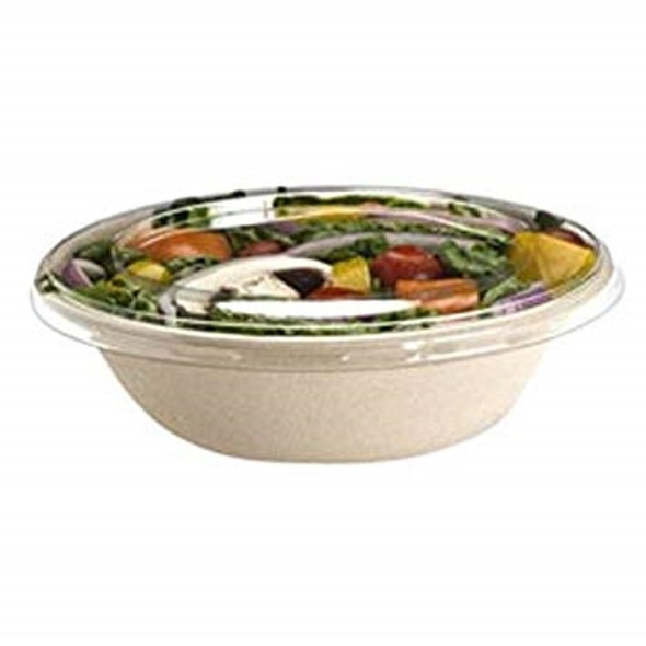 Sabert RPET LID For Wide Round Pulp Bowl PUL51616D500, (Pack of 500)