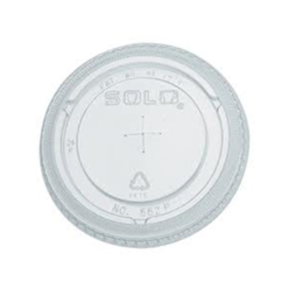 Solo [626TS] Plastic Lid Straw Slot Clear [16oz] a pack of 1000