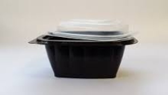 Somoplast [740] Black Base Microwave Container 450cc(a pack of 450)