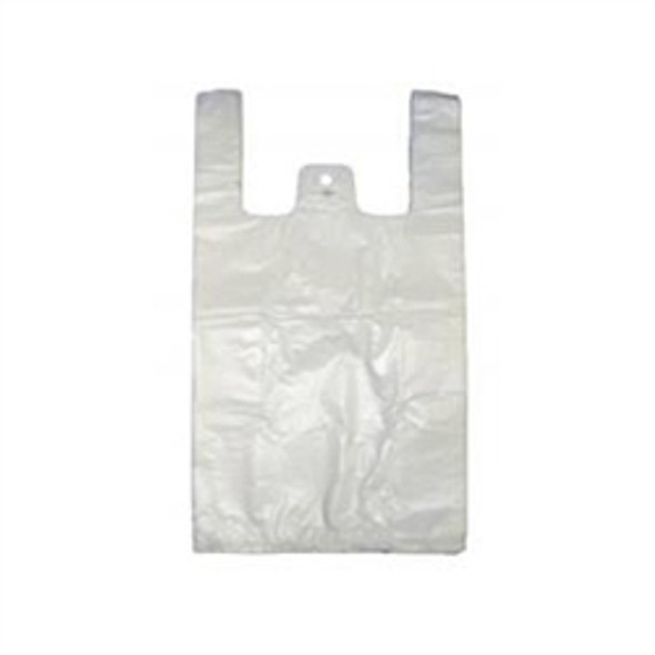 Medium White Plastic Carrier Bag [11x17x21) 15 mu (a pack of apx 2000)