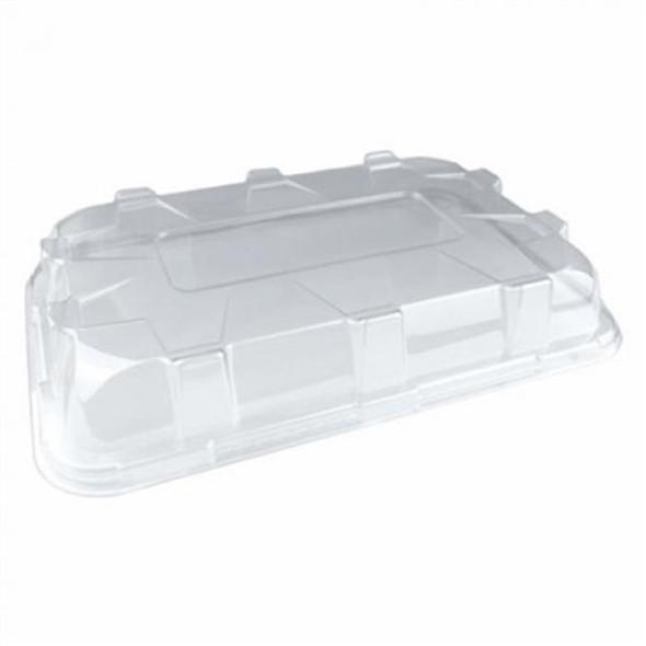 Sabert DOMED LID for Med Rect. Pulp Platter . DOM52314 (80mm) (a pack of 50)
