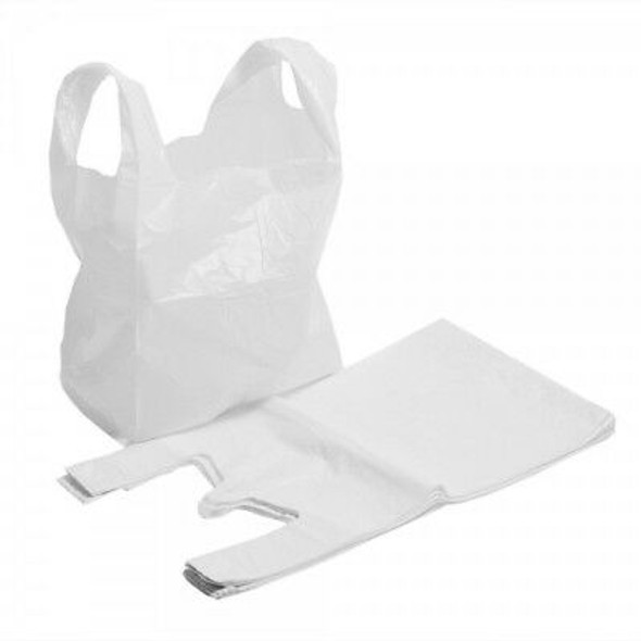 White Plastic Carrier Bag [13x19x23inch] (a pack of 1000)