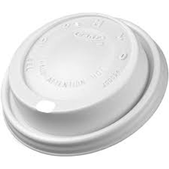 Dart [8EL] Plastic Lid Cappuccino White [8oz] (a pack of 1000)