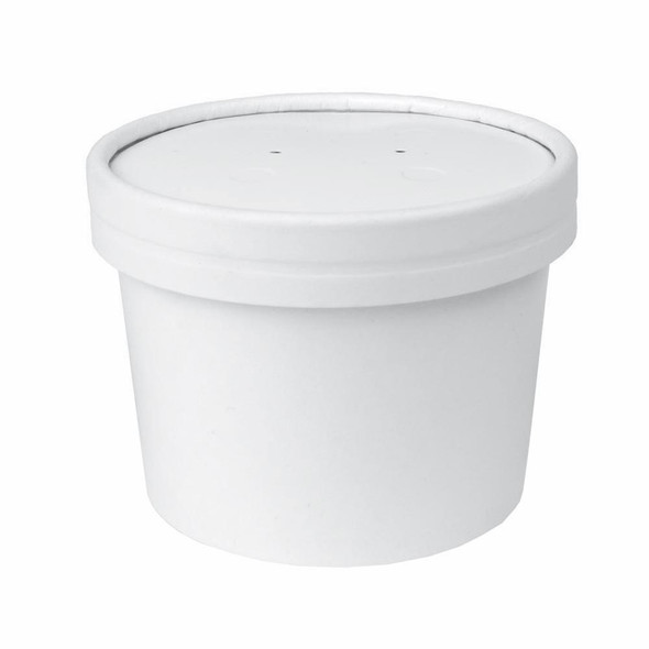 Go Pack Paper Soup Container & Lid Combo [8oz] (237ml (a pack of 250)