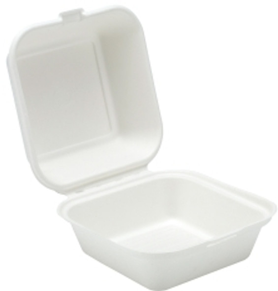 Bagasse, biodegradable 6'' Burger Box (a pack of 500)
